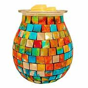 Koogus Mosaic Wax Melts Warmer Scented Oil Lamp Fragrance Candle Warmer For Happ