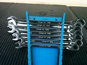 Aj582 New Snap-on Soxrr707 Flank Plus Sae Reversible Ratcheting Wrench Set