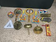 Vintage Tin Toy Spin Wave Noise Makers Kirchhof Litho Lot Noisemakers