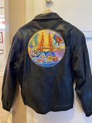 Disney California Adventure Leather Jacket. New With Tags Sizes M