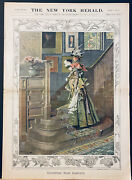 1898 New York Herald Easter Edition Color Supplement W/ Printerandrsquos Proofs