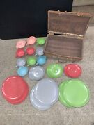 Branchell Melmac Color Flyte Lucent Catalina Harmony House Picnic Basket Lot