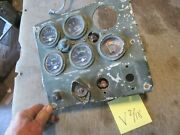 Used Instrument Panel W/ 24v Gauges, Works In Lots Of Military Vehicles