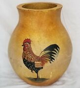 Beautiful Large Urn Vase Terra Cotta Rooster Image Blue Sky Corp.