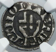 1200ad France Archbishopric Besancon Old Silver Denier Medieval Ngc Coin I88923