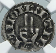1200ad France Archbishopric Besancon Old Silver Denier Medieval Ngc Coin I88926