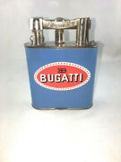 Amazing And Ultra Rare Enamel Dunhill The Giant Bugatti Logo Table Lighter And03950