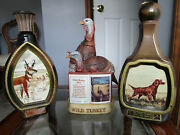 Vintage Jim Beam And Wild Turkey Collectable Bottle Decanter Collection