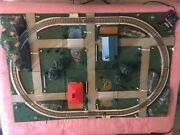 Vintage 1964 Ac Gilbert Company American Flyer 6 Panel Model Train Layout Tested