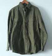 Northern Expedition Limited Chamois Shirt Green Button Up Soft Cotton Large