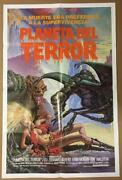 Galaxy Of Terror Fantasy Art Of Monsters Attacking Girl Orig. Movie Poster 2414