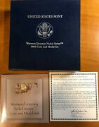 2004 Westward Journey Nickel Series - Coin And Medal Set - Excellent Conditioncoa