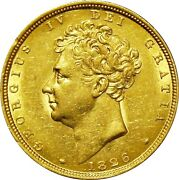 1826. George Iv Sovereign Extremely Fine. Marsh 11.