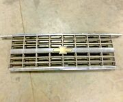 1989-1991 Chevy Blazer Front Grill Chrome Oem - Used