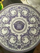 Versace Cake Plate Fruit Footed Tray Grand Divertissement Rare Rosenthal New Box