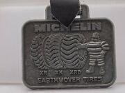 Vintage - Michelin Earthmover Tires Promo Pocket Watch Fob Keychain