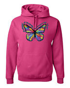 Colorful Butterfly On Whispering Wings Animals Unisex Graphic Hoodie Sweatshirt