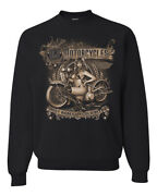 Old Motorcycles Hot Babes And Cold Beer Cars And Trucks Unisex Sweatshirt