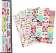 Bible Tabs Stickers Floral Bible Indexing Tabs Colorful Flower Printed Bible