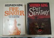 Stephen King The Fire-starter 1980 And Pet Sematary 1983 Hc Book Club Ed Books Andnbsp