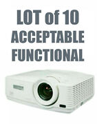 Lot Of 10 - Mitsubishi Wd570u Dlp Projector Acceptable Functional