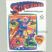 80and039s Rare Vintage Superman Jigsaw Puzzle 100 Pcs - Factory Sealed