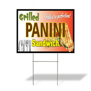 Weatherproof Yard Sign Panini Sandwich Grilled To Perfection Brown Lawn Garden