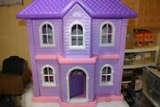 Vintage Little Tikes Tykes Huge My Size Barbie Doll House Mansion Guc Clean Htf