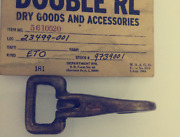 Double Rl Arrow 100 Solid Brass Weathered Stained Rusty Key Holder Rectangle