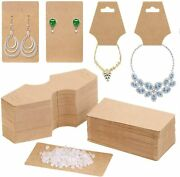 Earring Cards For Display Anezus 200 Pack Earring Packaging Holder Cards With