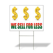 Weatherproof Yard Sign We Sell For Less Advertising Printing White Lawn Garden