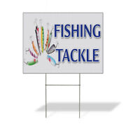 Weatherproof Yard Sign Fishing Tackle Business Green Lawn Garden Stores