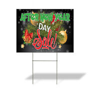 Weatherproof Yard Sign After New Year Day Sale 2 Green Lawn Garden Sales