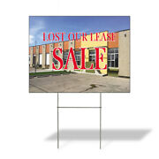 Weatherproof Yard Sign Lost Our Lease Sale Advertising Printing Lawn Garden