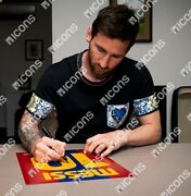 Lionel Messi Official Signed Fc Barcelona 2008-9 Shirt In Frame Limited Edition