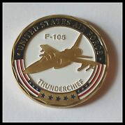 U.s. United States Air Force | F-105 Thunderchief | Gold Plated Challenge Coin