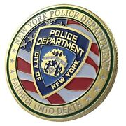Us United States | New York City Police Department | Gold Plated Challenge Coin