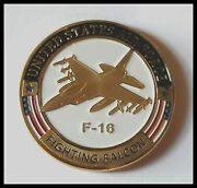 U.s. United States Air Force | F-16 Fighting Falcon | Gold Plated Challenge Coin