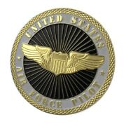 U.s. United States Air Force | Usaf Pilot | Gold Plated Challenge Coin