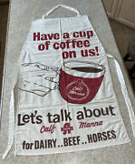 Vintage Advertising Apron Albers Calf Mannaexcellent Condition And Rare Piece