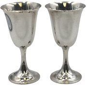 Pair Of Sterling Silver Lord Saybrook Goblets By International Sterling