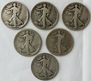 6 Coin Lot 1927 S And 1928 S Walking Liberty Silver Half Dollars 1 Us Coins Ac