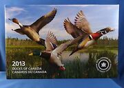 Ducks Of Canada 3-coin Pure Silver Color Proof Set + Duck Call And Hardwood Case