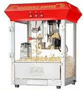 6010 Great Northern Red 8oz Roosevelt Antique Countertop Style Popcorn Popper M