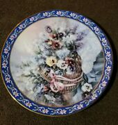 Pansies W.l. George Collectible Plate Lena Liu's Basket Bouquets