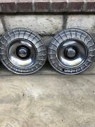 1963 Ford Thunderbird Hub Caps 14- Set Of 4 Wheel Hubcaps Nice Condition