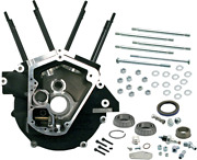 S And S Cycle Black Super Stock Big Twin Alternator Style Crankcase 31-0055