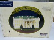 Dept 56 The White House American Pride Collection 2001 Pin, Flag, Orig Box New