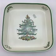 Spode Christmas Tree English China Oven To Table Square Casserole Dish