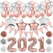 2021 New Years Eve Party Supplies, 2021 New Year Foil Balloons Set,
